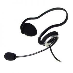 A4TECH HS-5P (Back Neck) Headphone with Stick Mic – Black