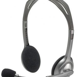 Logitech H110 Stereo Headset – Black (Brand Warranty)