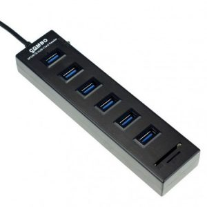 ND 2 in 1 USB 2.0 Card Reader & 6 Port HUB