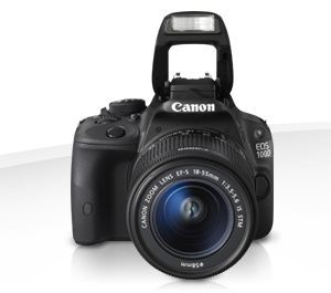 Canon EOS 100D 18 MP 18-55mm Lens DSLR Camera Black