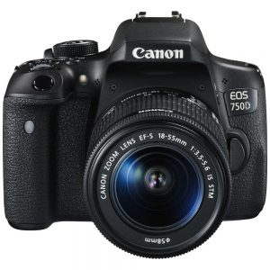 Canon EOS 750D 24.2MP 18-55mm Lens DSLR Camera Black