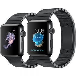 Apple iWatch MJ3F2 38mm Case with Link Bracelet (Space Black Stainless Steel)